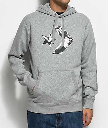 Converse Cons Star Chevron Athletic Grey Pullover Hoodie
