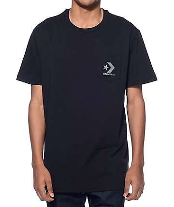 Converse Core Black Pocket T-Shirt