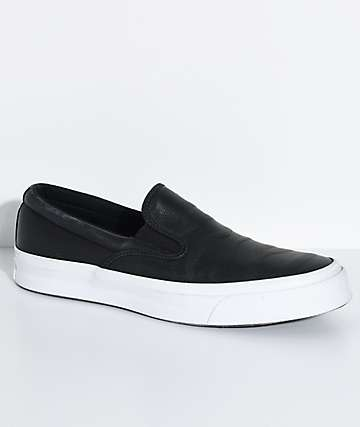 Converse Deck Star JJ Black & White Slip-On Skate Shoes