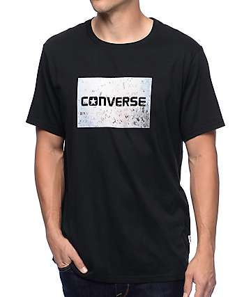 Converse Graffiti Photo Black T-Shirt