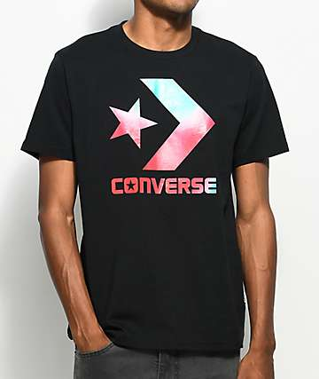 Converse Heat Map Star Chevron Black T-Shirt