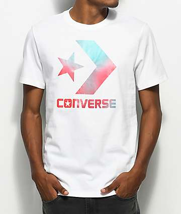 Converse Heat Map Star Chevron White T-Shirt