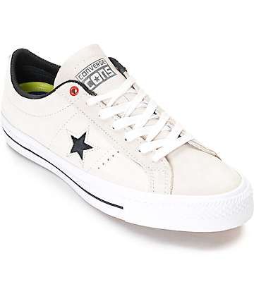Converse One Star Pro White & Black Skate Shoes