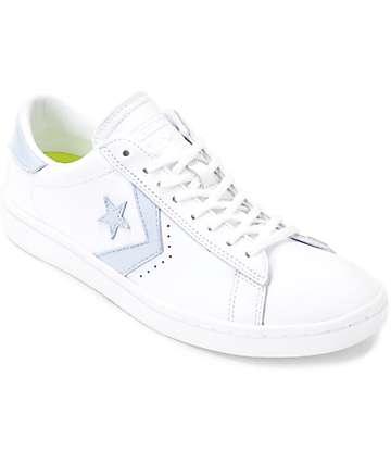 Converse PL LP Ox White & Porpoise Womens Leather Shoes