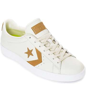 Converse Pro Leather '76 Egret & Tan Shoes