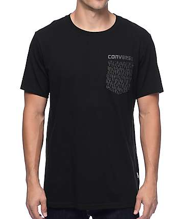Converse Reflective Rain Black Pocket T-Shirt