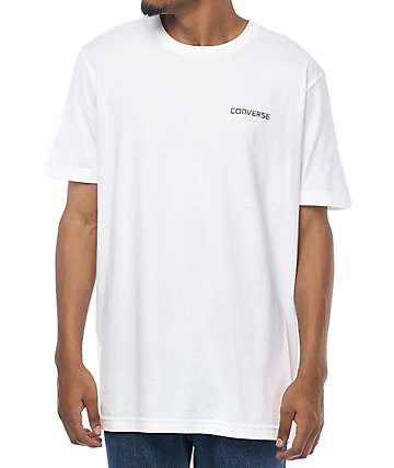 Converse Star Chevron Tile Fill White T-Shirt