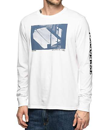 Converse Stash White Long Sleeve T-Shirt