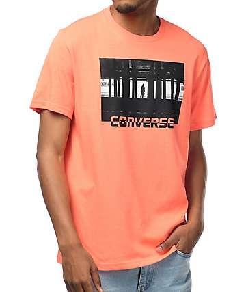 Converse Subway Graphic camiseta en color coral