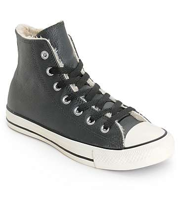 Converse Women's Chuck Taylor All Star Black Leather Shoes