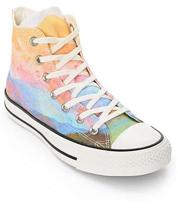 Converse Womens CTAS Photo Real Sunset High Top Shoes