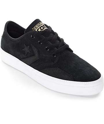Converse Zakim Black & Gold Skate Shoes