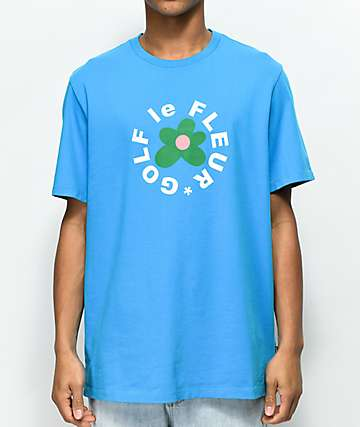 Converse x Golf Wang Le Fleur Hawaiian Blue T-Shirt