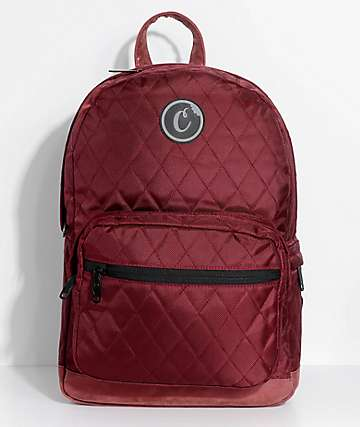 Cookies 1680 Quilted Burgundy Backpack