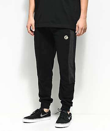 Cookies 24 Karat Black Velour Sweatpants