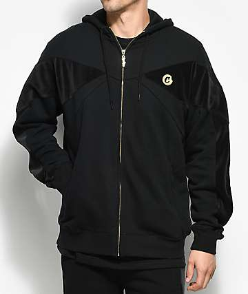 Cookies 24 Karat Velour Black Zip Up Hoodie
