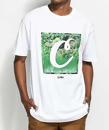Cookies 4 Corner Fade White T-Shirt