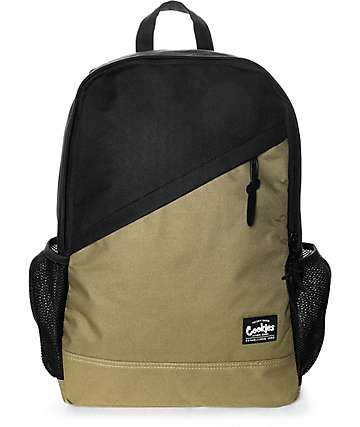 Cookies Basic Essentials Tan & Black Smell Proof Backpack