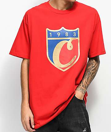 Cookies Carrera Logo Red T-Shirt