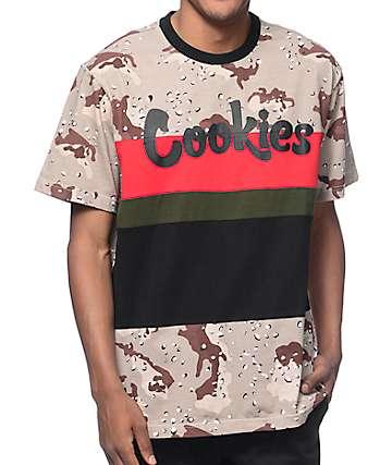 Cookies Desert Storm Script Camo T-Shirt