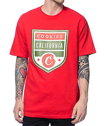Cookies Desert Storm Shield Red T-Shirt