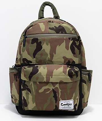 Cookies Fundamental Green Camo Backpack