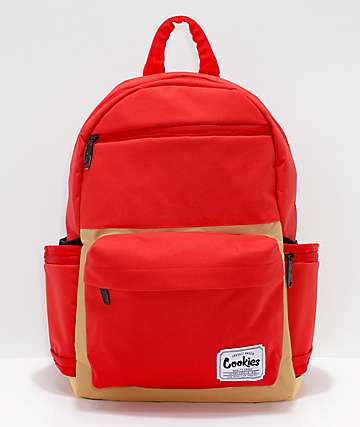 Cookies Fundamental Red & Tan Backpack