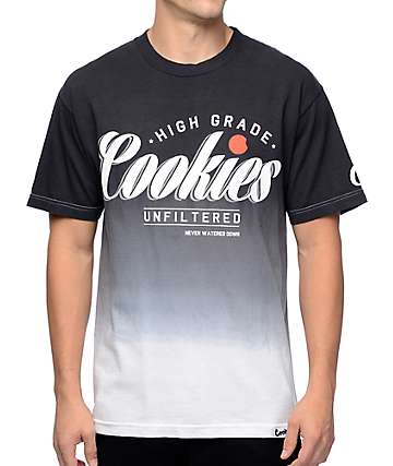 Cookies High Grade Dip Dye Black T-Shirt