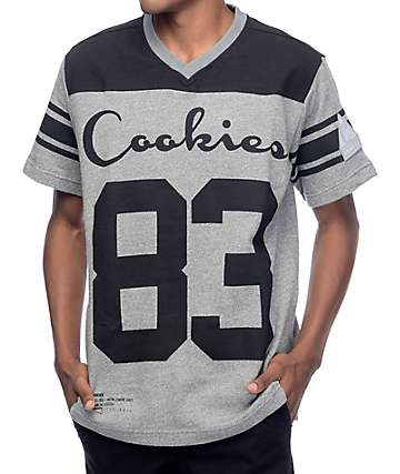 Cookies In The Field Charcoal Football Jersey