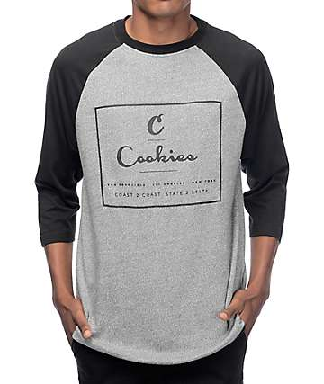 Cookies In The Field Charcoal Raglan T-Shirt