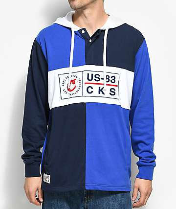 Cookies Monterey Navy & Royal Blue Pieced Hoodie