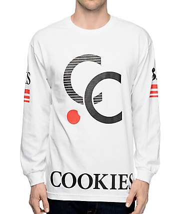 Cookies No. 83 White Long Sleeve T-Shirt
