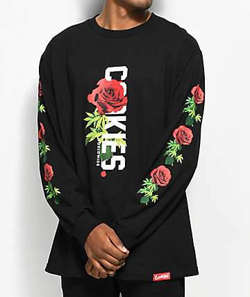 Cookies Rose to The Top Black Long Sleeve T-Shirt