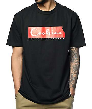 Cookies Script Bar Black T-Shirt