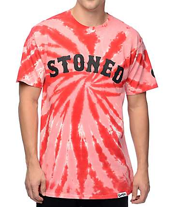 Cookies Stoned Red Tie Dye T-Shirt