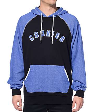 Cookies Top Tier Heather Blue and Black Hoodie