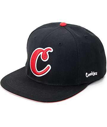 Cookies Tropical C Twill Black Snapback Hat