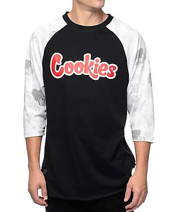 Cookies Tropical Varsity Black Baseball T-Shirt