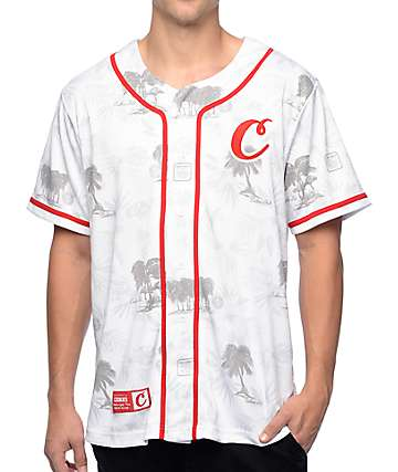 Cookies Tropical Varsity White Mesh Baseball Jersey