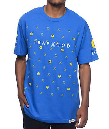 Cookies X Gucci Trap God Royal Blue & Yellow T-Shirt