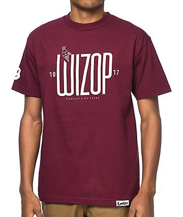 Cookies X Wizop camiseta en color vino