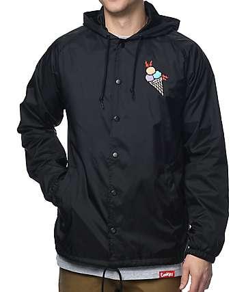 Cookies X Wizop chaqueta entrenador en negro