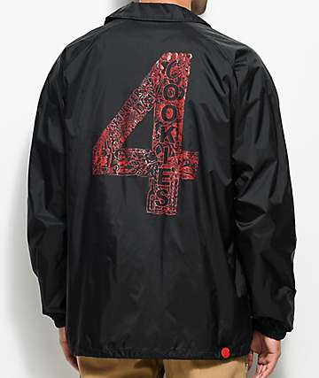 Cookies x 4 Hunnid Black Coaches Jacket
