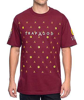 Cookies x Gucci Mane Trap God Burgundy T-Shirt