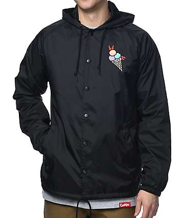 Cookies x Wizop Black Coaches Jacket