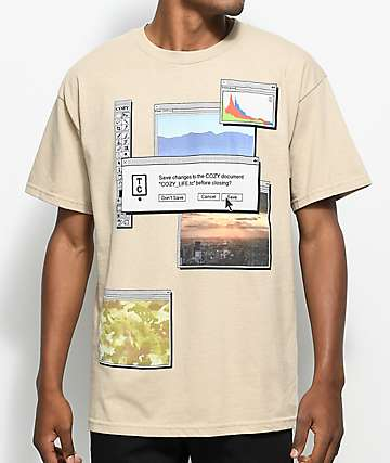 Cozy Desk Top Sand T-Shirt