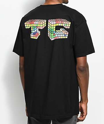 Cozy Multiblock Black T-Shirt