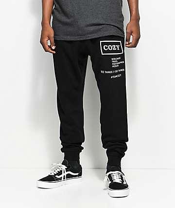 Cozy Shooter Black Sweatpants