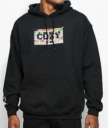 Cozy Swatch Box Black Hoodie