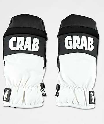 Crab Grab Punch Black & White Snowboard Mittens